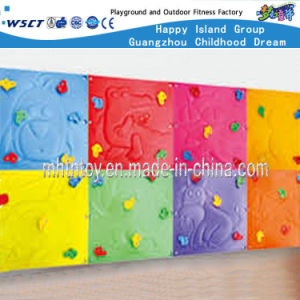 Plastic Kids Outdoor Play Equipment Wall Mounted Climbing (HF-19204) pictures & photos