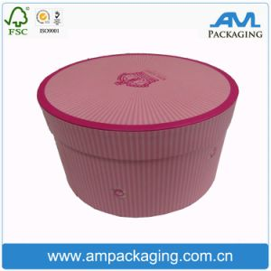 Custom Waterproof Paper Flower Box with Lid Round Box Tube Packaging pictures & photos