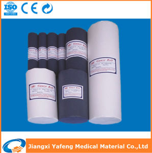 Factory Raw Material 100% Absorbent Cotton Bleached Medical Gauze Roll pictures & photos