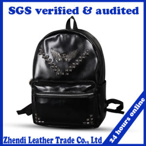 Korea Style PU Leather Double Shoulder School Bag (7001) for Boy pictures & photos