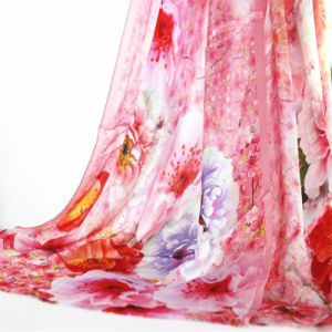 Custom Printed 100% Silk Satin Women Scarf pictures & photos