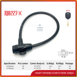 Jq8227-X High-Quality Bicycle Lock Motorcycle Steel Cable Lock pictures & photos
