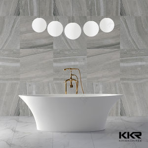 Kkr Oval Shape Solid Surface Bath Tub for Hotel pictures & photos
