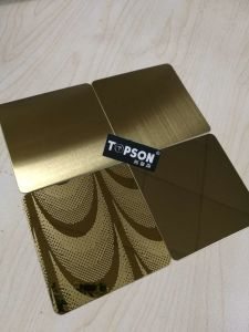 Mirror Color Stainless Steel Sheet for Building Material 201 304 316 pictures & photos