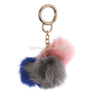 Fashion Faux Fur Pompom Bag Accessory Multi Color Key Chain Jewellry pictures & photos