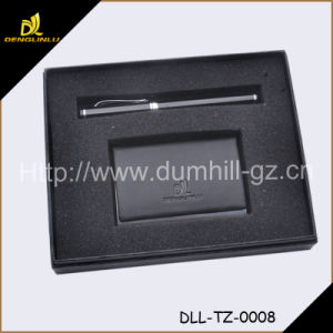 2015 Men Leather Gift Set for Card Holder pictures & photos