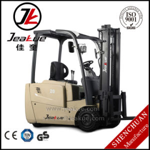 2017 Jeakue Factory Price 1.6t -2t New Three Wheels Electric Forklift pictures & photos