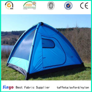 Polyurethane Coated 100% Polyester Taffeta Tent Fabric with Wateproof pictures & photos
