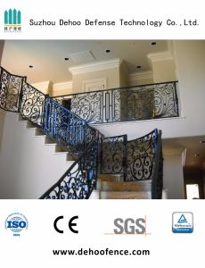 Security Decorative Wrought Iron Stair Fencing with Powder Coated pictures & photos