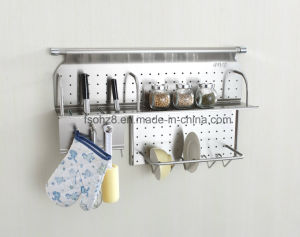 Stainless Steel Kitchen Rack Knife and Dish with Hooks (343) pictures & photos