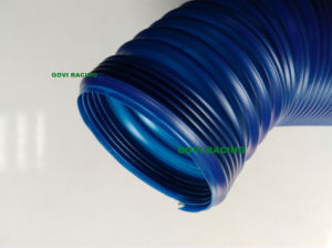 3 Inch Blue PVC Plastic Air Intake Pipe with 90/100cm Extended Length pictures & photos
