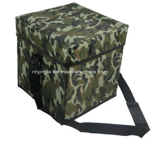 600d Foldable Storage Seat Cool Box for Picnic Convenience