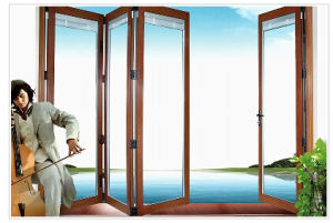 Modern Design Aluminum Toilet Bi Fold Door Partition with New Zealand Lock pictures & photos