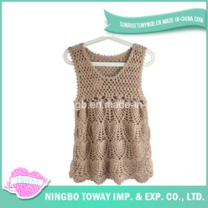 Hand Beautifuly Weaving High Fashion Crochet Knitting Vest pictures & photos