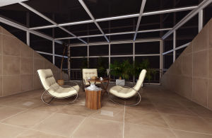 Concrete Cement Style Glazed Porcelain Floor Tile for Floor and Wall (FN04) pictures & photos