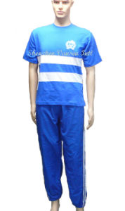 Spring Jogging Training Suit in Blue pictures & photos
