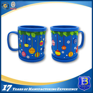 Blue Acrylic Mug with Rubberized PVC Tape for Promotion (Ele-PVC018) pictures & photos
