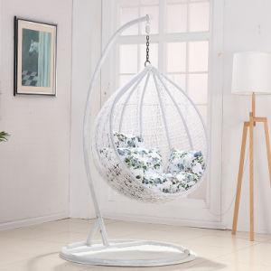 Modern Leisure Furniture Metal Wicker Hanging Chair Round Rattan (J830) pictures & photos