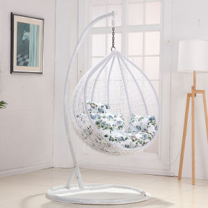 Modern Leisure Home Hotel Office Metal Wicker Round Rattan Hanging Chair (J830) pictures & photos
