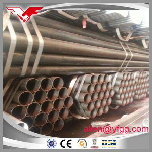 6inch API 5L Gr. B Black Painted ERW Carbon Steel Pipe Water and Construction Used pictures & photos
