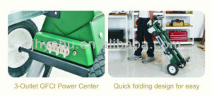 Portable Miter Saw Stand, Mulitfunction Saw Stand Moveable with 3 Outlet Power Center (YH-MS036) pictures & photos