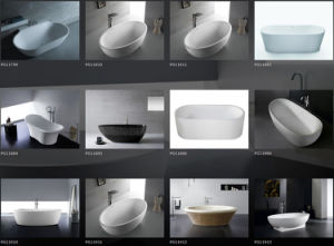 Wear Resistance Rectangular Solid Surface Stone Bathtub pictures & photos