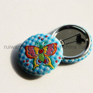 Embroidery Badge with Pin, Embroidery Button Badge pictures & photos