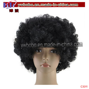 Halloween Carnival Clowen Costume Accessory Hair Afro Wig Cap (C3011) pictures & photos