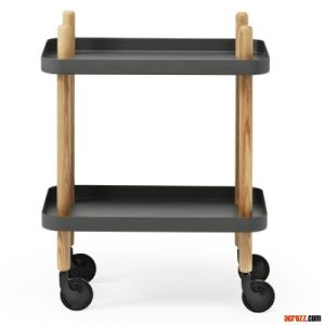 Designer Furniture Chrome Block Servierwagen Table pictures & photos