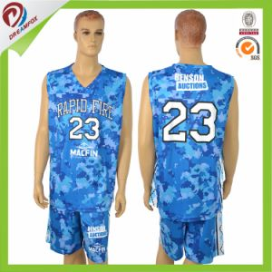 Sublimated Custom Camo Basketball Uniforms with Your Logo pictures & photos