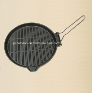 Non-Stick Cast Iron Frypan with Metal Handle pictures & photos