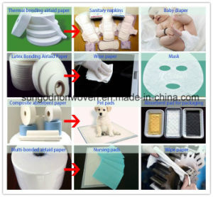 Airlaid Paper with Sap for Sanitary Napkin pictures & photos