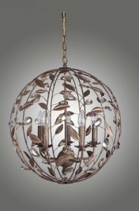Traditional Iron Wrought Floral Indoor Orb Finishing Ball Pendant Light pictures & photos