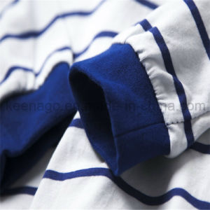 Boys Organic Cotton Long Sleeve Striped Sleepwear Suit Pajamas pictures & photos