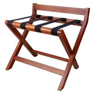 Hotel Wood Baggage Holder Luggage Rack with Back pictures & photos