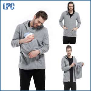 Fashion Men Kangaroo Fleece Hoody for Baby Carrier pictures & photos