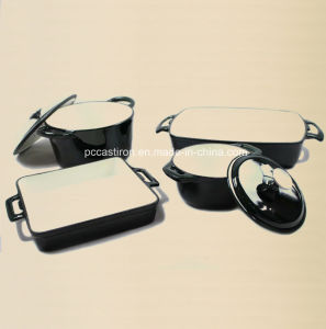 7PCS Enamel Cast Iron Cookware Set Supplier From China pictures & photos