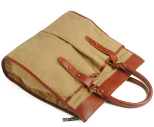 Fashion Designer Canvas Hand Bag Genuine Leather Fashion Designer Handbags (RS-880) pictures & photos