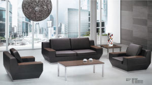 Modern Office Furniture Wooden Leather Sofa pictures & photos