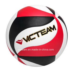 Match Grade Custom Printed Micro Fiber Volleyball pictures & photos