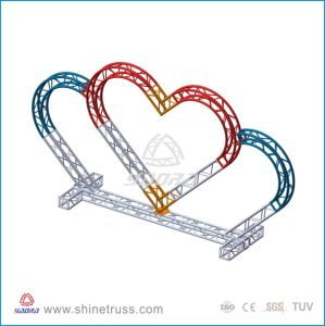 Stage Furniture Heart Shape Truss for Western Wedding Decoration pictures & photos