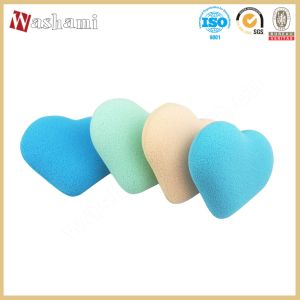 Washami Eco-Friendlly Heart Shape Makeup Sponge Puff pictures & photos