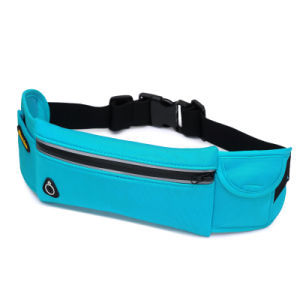 Promotional Reflective Convenienct Sports Running Waist Bag with Earphone Hole pictures & photos