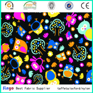 PU/PVC Coated Polyester Japanese Animal Cartoon Printed Fabric pictures & photos