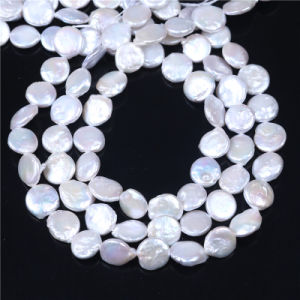 Coin Cultured Freshwater Pearl Beads 12-13mm Size AA Quality pictures & photos