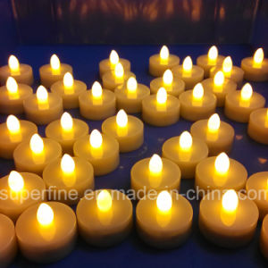 Battery Operated Christmas Decorative Luminary Pillar LED Artificial Flameless Tealights pictures & photos