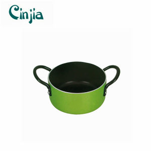 New Design Green Aluminum Soup Pot for Promotion pictures & photos