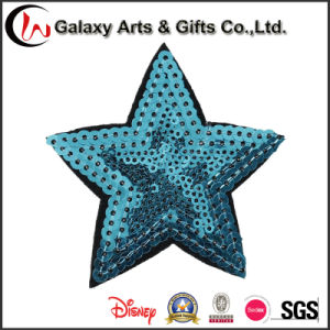 Embroidery Colorful Star Pattern Decorative Sequin Applique for Clothing pictures & photos