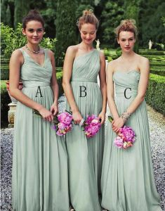 A-Line Chiffon Full Length 3 Styles Available Wedding Bridesmaid Dress pictures & photos