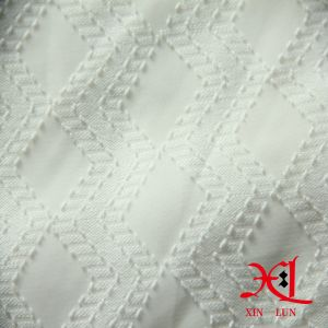 Pure White jacquard Polyester Chiffon Fabric for Women Garment pictures & photos